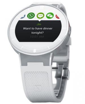 Chytré hodinky Alcatel OneTouch Watch v kulatém provedení připomínají spíše  klasické b2eda358a6