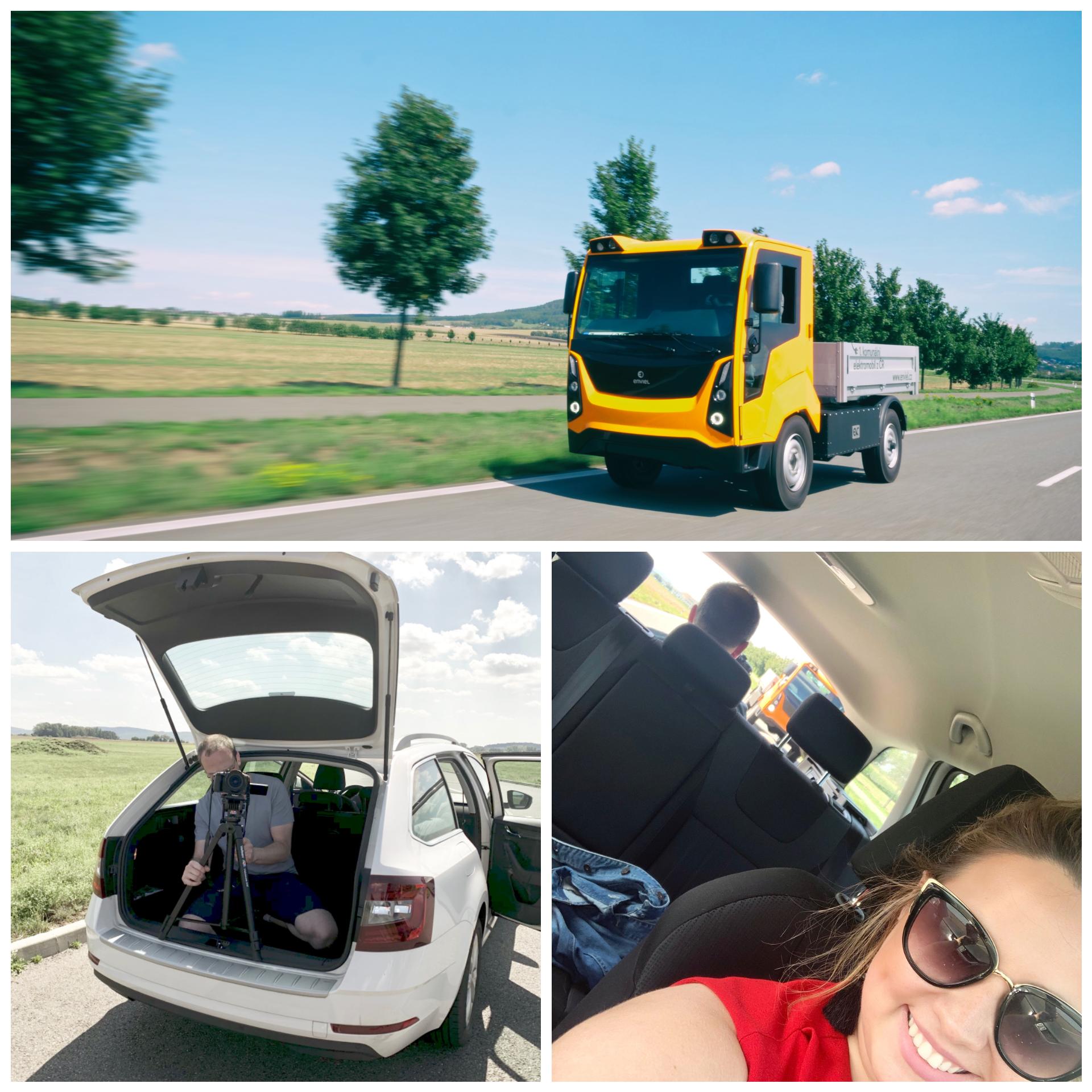 Náš komunální elektromobil Enviel vyrazil do světa!
