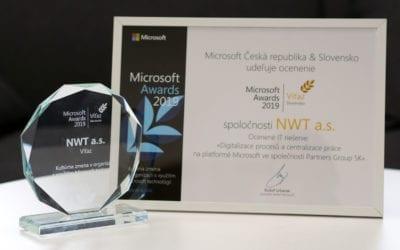 Divize ICT zvítězila s projektem pro Partners Group SK v Microsoft Awards 2019